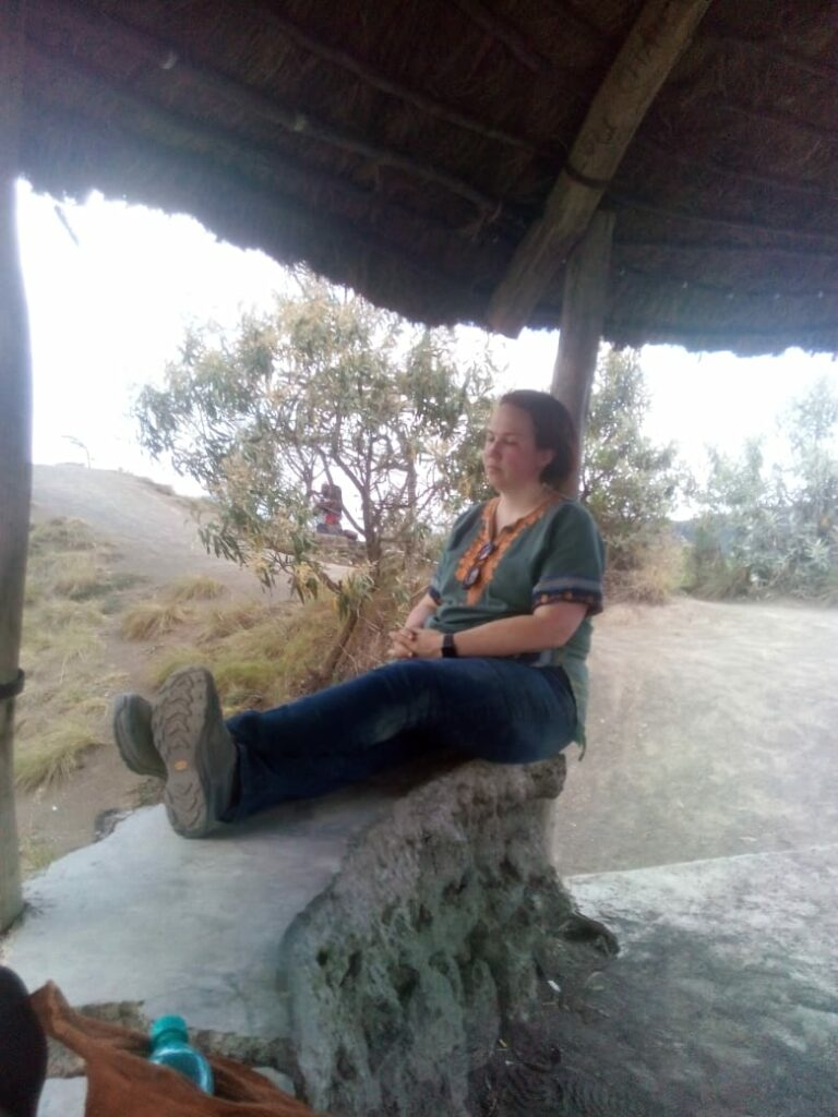 Shannon Polly after hiking Mt. Longonot.
